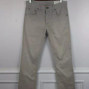 Rag & Bone Buttonfly Chino Slim Straight Pants 29